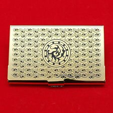 Stylish metal business card case Three legged crow gold ID card holder