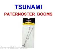 2pk TSUNAMI 20cm TWISTED WIRE PATERNOSTER BOOMS FOR SEA BOAT FISHING LINE RIGS