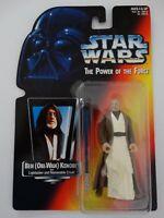 1995 Star Wars POTF Obi-Wan Kenobi Lightsaber and Removable Cloak Action Figure