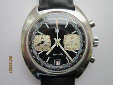 Rare Montre Chronographe LIP Sporville en Acier - Valjoux 7734