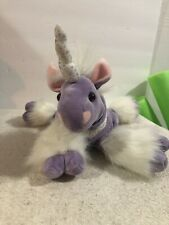 "Animal Alley 15"" Purple White Unicorn Plush Toys R Us Stuffed Animal"