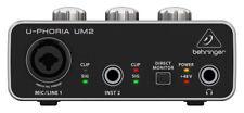 BEHRINGER USB audio interface UM2 musical instrumental gear NEW 48kHz 48V NEW