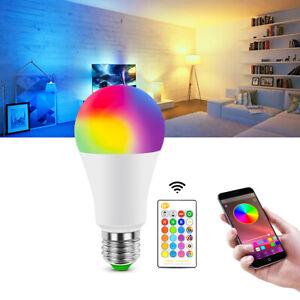 E27 RGB RGBW LED Ampoule Lumière Changement De Couleur Ampoules Lampe Dimmable