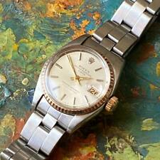 ROLEX DATE 6516 TWO-TONE LADIES VINTAGE WATCH 100% GENUINE 25MM OYSTER BAND