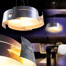 Lampada a Sospensione Design Argento Soggiorno Luce Studio Lustro Cucina 133945