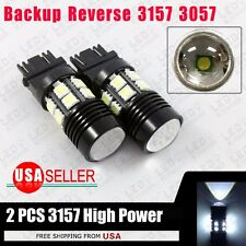 2x White 3157 3156 12SMD Chip Projector LED Light Bulbs Back Up Tail Brake Stop