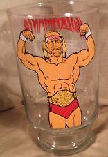 Hulkamania Hulk Hogan Titan Sports Drink Glass WWF Wrestling Wrestler