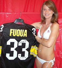 "FRENCHY FUQUA signed jersey PITTSBURGH STEELERS ""I'll Never Tell"" Inscription"