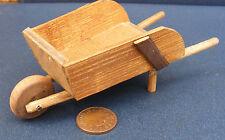 1:12 Scale Wooden Wheel Barrow Tumdee Dolls House Miniature Garden Accessory BM