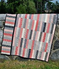 QUILT PATTERN Jelly Roll or Fat Quarters, strip quilt pattern, Sweet Jane's