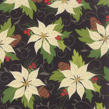 MODA Fabric ~ TOLE CHRISTMAS ~ by Gina Martin (10050 11) Midnight - by 1/2 yd