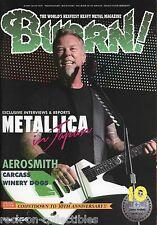 Burrn! Heavy Metal Magazine October 2013 Japan Metallica Iron Maiden Steve Vai