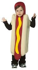 CHILD ADORABLE HOT DOG WITH MUSTARD FOOD HALLOWEEN COSTUME SIZE 4-6 GC93446