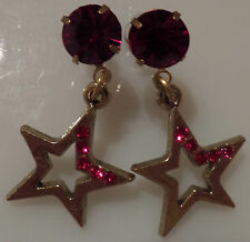 Ruby Star Vintage Style Earrings