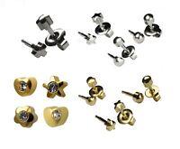 Stainless Steel Stud Earrings Hypoallergenic Sterile Ear Piercings Studs  2&4mm