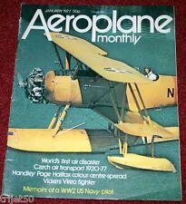 Aeroplane Monthly Magazine 1977 January Morse Scout,Comper Streak,Czech,Vireo