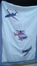 Babyface Aeroplane Junior Cotbed Duvet              100% cotton approx 200 x 50