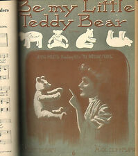 Antique 1900 PRIVATELY Bound Sheet Music Book THEATRE Black Americana TEDDY BEAR