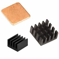 3M + Cooper + Aluminum Heatsink Heat Sink Cooling Kit for Raspberry Pi 3/2 B