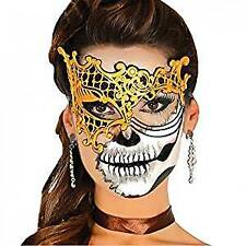 Halloween Gold Latex Venetian Eyemask