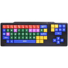 TASTI di dimensioni più colori codificati Kids Tastiera USB