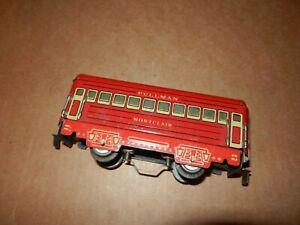 MARX Montclair 6 inch Coach, Red, Litho Frame,  Illuminated,  4 Wheel, Original
