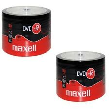 100 DVD -R Maxell vergini STOCK 4.7GB 120MIN 16X SHRINK + 1cd verbatim 275732