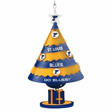 ST LOUIS BLUES TEAM HANGING CHRISTMAS TREE ORNAMENT WITH BELL LICENSED NEW NIP