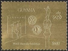 Guyana 1992 GOLD/Rotary/Lions International/Columbus/StampEx 1v s/a (n42915)