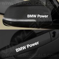 4x BMW Power Logo Premium Quality Door Handle / Mirror Decals Stickers Alpina M4