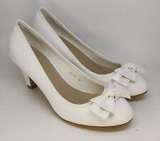 Zapatos de Novia Cuero Óptica Pequeño Tacón Sencillo Y Noble Lazo Delant. M098