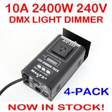 4x 1 Channel DMX 512 Stage Lighting System Light Dimmer Pack 240V Single Channel