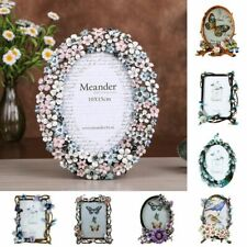 European Style Metal Photo Frame Bird Floral Creative Enamel Home Decors Display