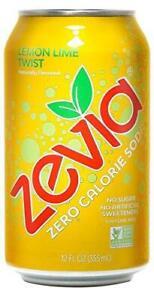 Zevia Zero Calorie Soda, Lemon Lime Twist, Naturally Sweetened Soda, (24) 12