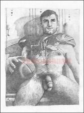 Mann Art NUDE MALE Football Jock Original PENCIL DRAWING Gay Interest