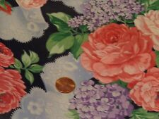 COTTON SEWING QUILTING CRAFTING FAB BY THE HALF YARD ROSES AND OTHER FLORAL