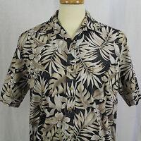 Cooke Street Honolulu Aloha Hawaiian Short Sleeve Hibiscus Cotton Men Sz M EUC