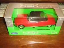 BY WELLY DIECAST - CITROEN DS19 CABRIOLET - IN RED & BLACK (HOOD UP)- 1:24 Scale