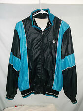 VTG 70s/80s FRED PERRY warm up jacket Med Nylon zip up lined blue blk track