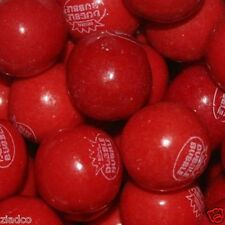 "Dubble Bubble Filled VERY CHERRY Gumballs Bulk 850 pcs 1"" 24mm Approx 18 lbs"