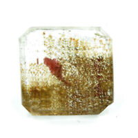 Cts. 16.25 Natural Lodolite Madagascar Garden Quartz Square Cut Gemstone 15X7 MM