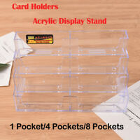 Landscape Business Card Holders Desktop Dispensers Display Stands 1/4/8 Pocket