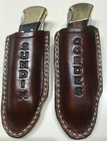 Custom Leather Pocket Knife Case Sheath Handmade Buck 110, Large Old Timer