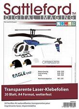3 Klebefolien DIN A4 Laserdrucker transparent Aufkleber Etiketten wetterfest