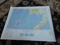 "26x27"" 1952 Map Bristol Bay, Alaska Bering Sea Dillingham Pribilof Islands"