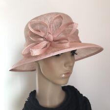 Ladies Light Pink Elegant Organza Formal Race Wedding Melbourne Cup Hat H447