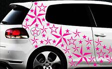 93-teiliges Sterne Star Auto Aufkleber Set Sticker 1 Tuning WANDTATTOO Blumen xx