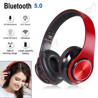 Wireless Bluetooth Headphones Stereo Super Bass Earphones Headsets w/ Microphone
