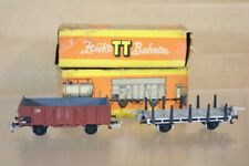 ZEUKE TT GAUGE RAKE of 2 DR OPEN and STAKE WAGON BOXED ns