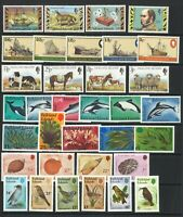 Falkland Islands 34 Different Thematic Stamps & 5 Miniature Sheets Mint Unhinged